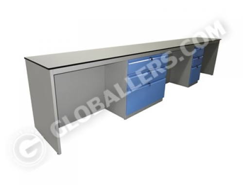 Free Standing System Wall Bench 04