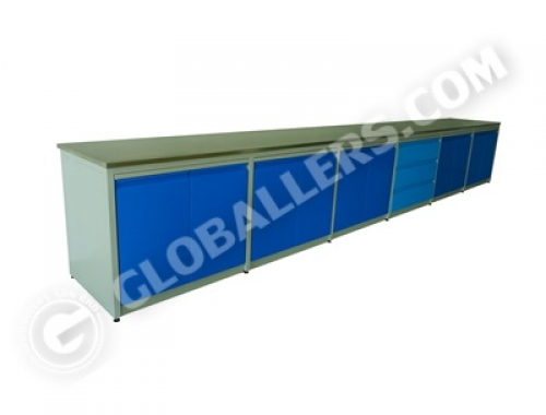 H-Frame System Wall Bench 05