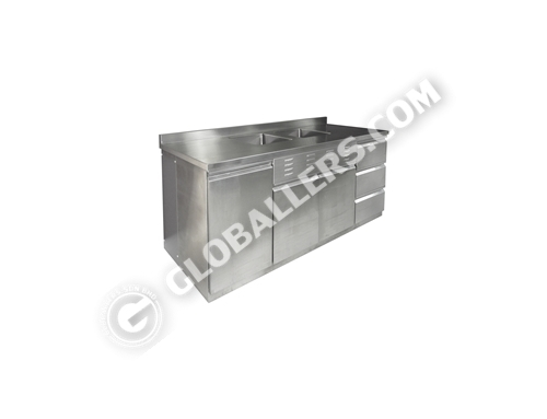 Stainless Steel Table with Sink 04