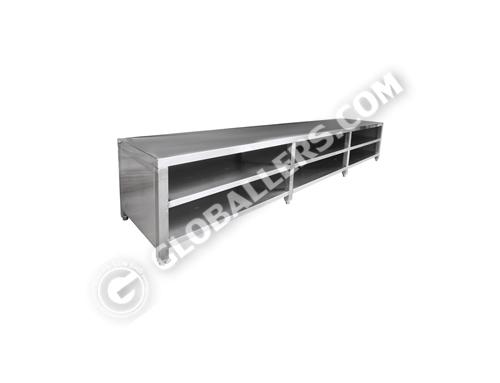Stainless Steel Cross Bench cum Shoe Rack 04