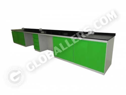 Free Standing System Wall Bench 02