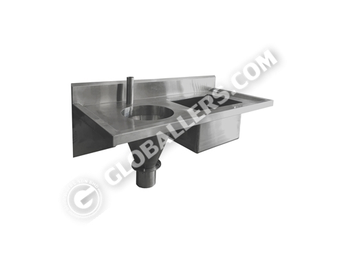 Stainless Steel Medical Slop Hopper Sink 01