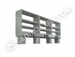 Bench Mount Reagent Shelves 05