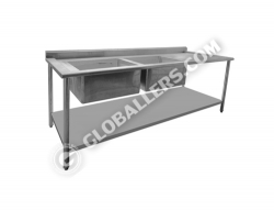 Stainless Steel Table with Sink 02