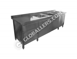 Stainless Steel Table with Sink 07
