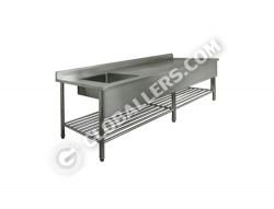 Stainless Steel Table with Sink 01