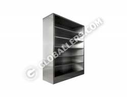 Stainless Steel Full Height Open Cabinet 11