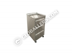 Stainless Steel Mobile Drawer Trolley 08