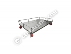 Stainless Steel Mobile Low Trolley 04