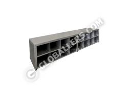 Stainless Steel Cross Bench cum Shoe Rack 06