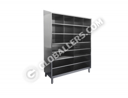 Stainless Steel Full Height Open Cabinet 12
