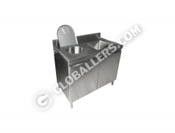 Stainless Steel Medical Slop Hopper Sink 02