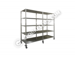 Mobile Stainless Steel Open Rack 03